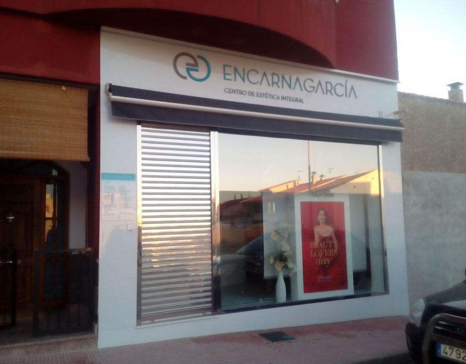 fachadas para comercios panel composite en Murcia - Rótulos Luminosos Art Design