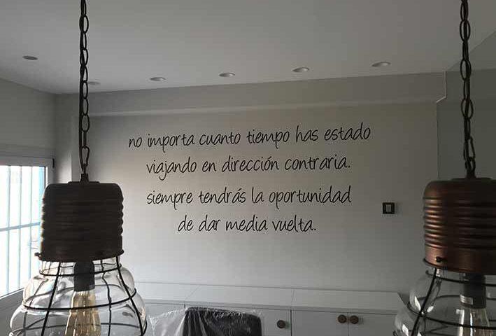 frases y citas celebres en vinilo adhesivo para paredes Rótulos Luminosos Art Design