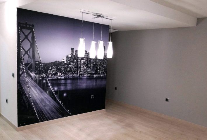 Vinilo decorativo, foto mural, para interior.