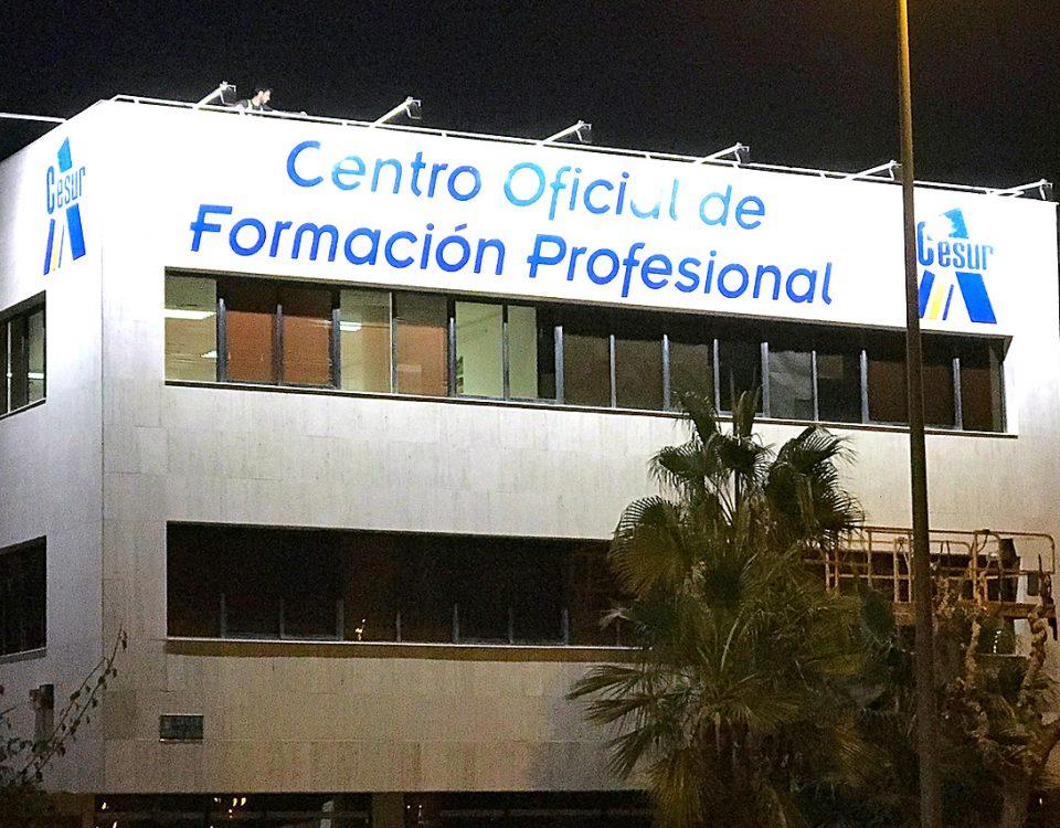 Cesur, Centro Oficial de F.P. - Letras corporeas - Rótulos Art Design