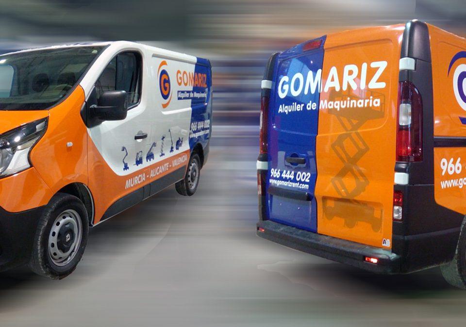 GOMARIZ alquiler de maquinaria - Rotulación Vehículos - Rótulos Art Design
