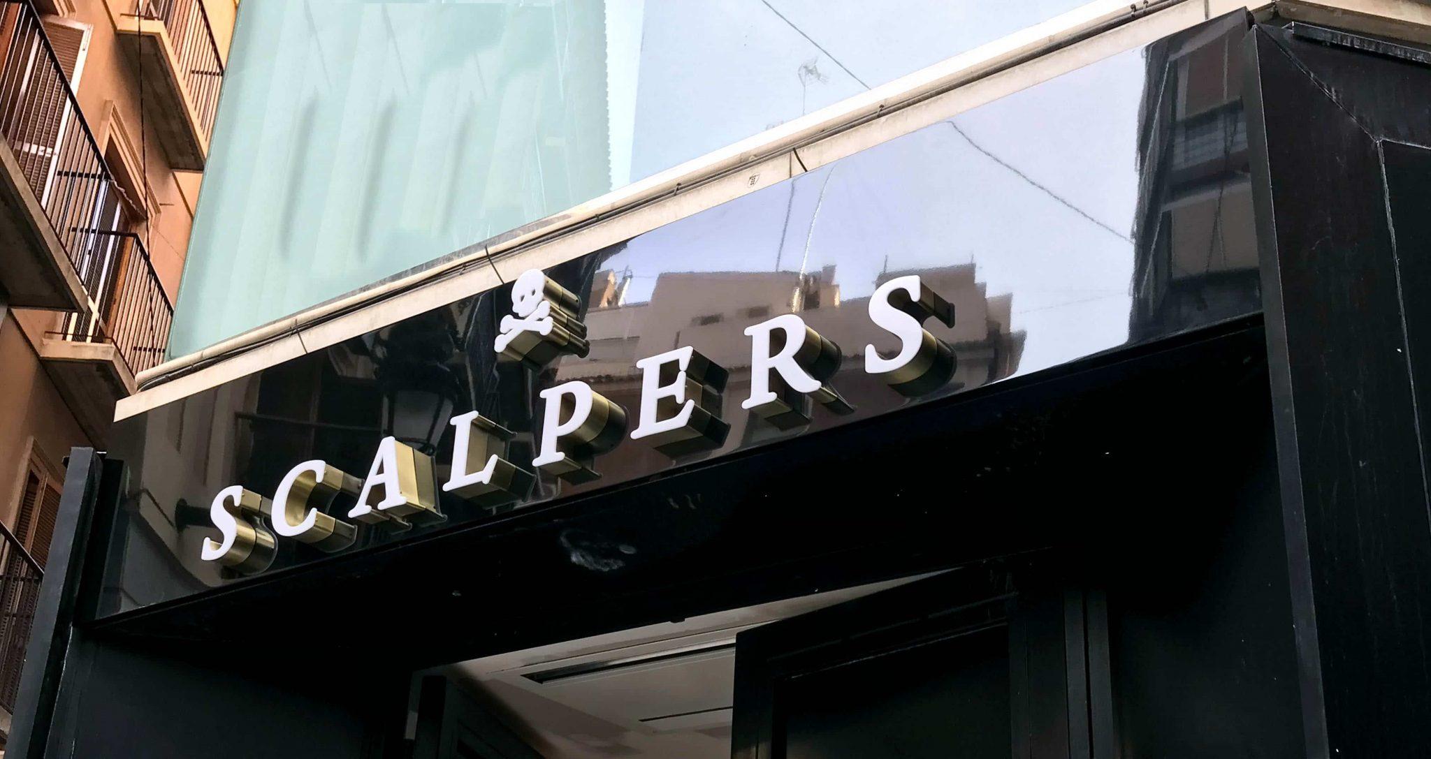 Scalpers - Corpóreas Aluminio - Rótulos Art Design