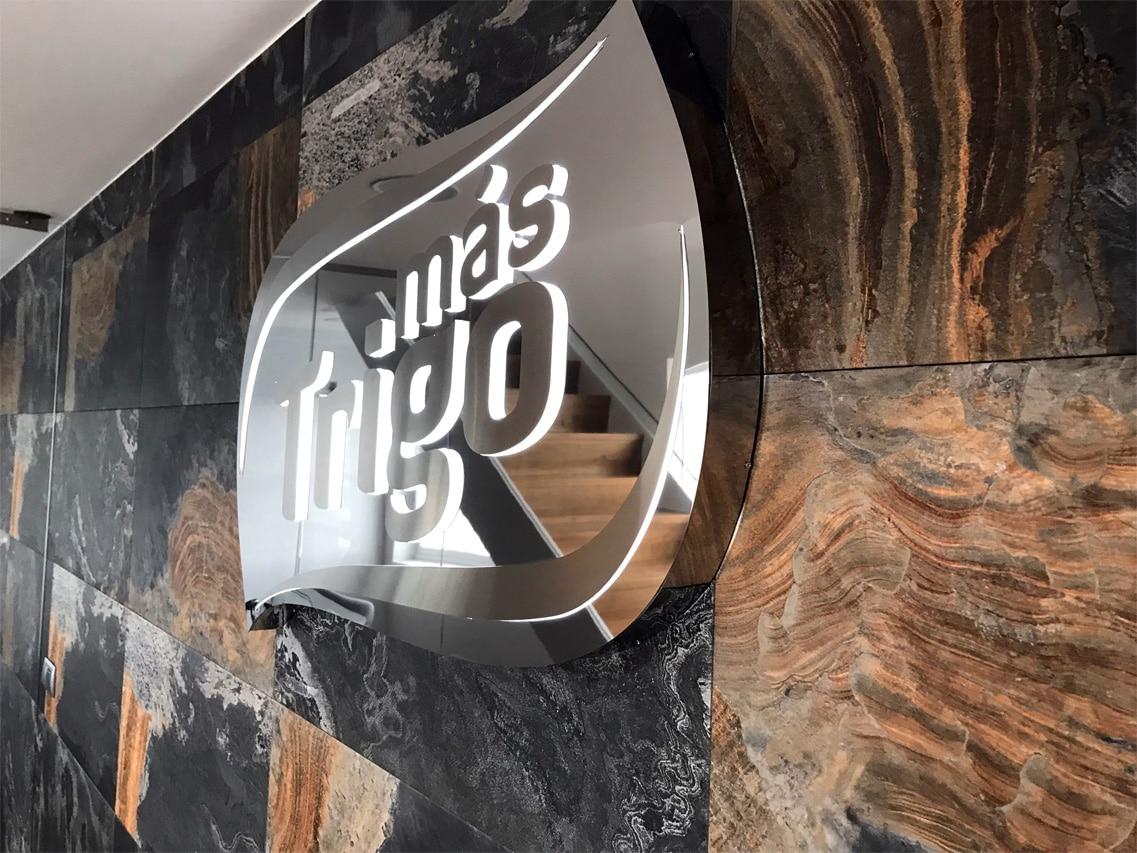 más Trigo - Rótulo Acero inox - Rótulos Art Design