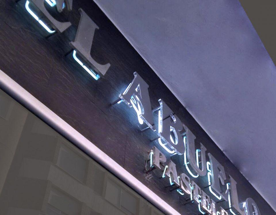 Pasteleria El Abuelo, rótulo corpóreo - Rótulos Art Design