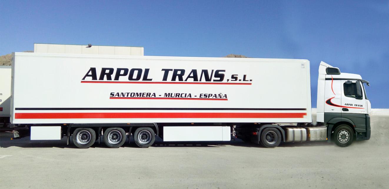 Rotulación de camión para Arpol Trans, Rótulos Art Design.