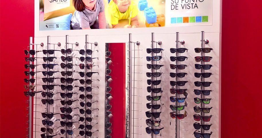 Expositor óptica retroiluminado