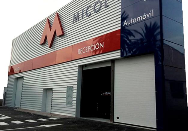 Realización de fachada para Talleres MICOL - Rótulos Art Design