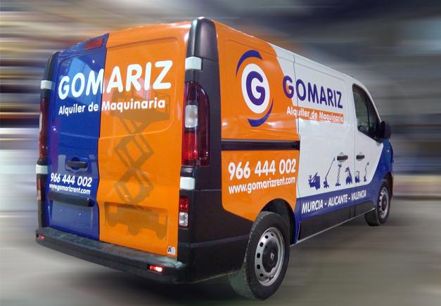 Rotulación de Vehículo para Gomariz - Rótulos Art Design