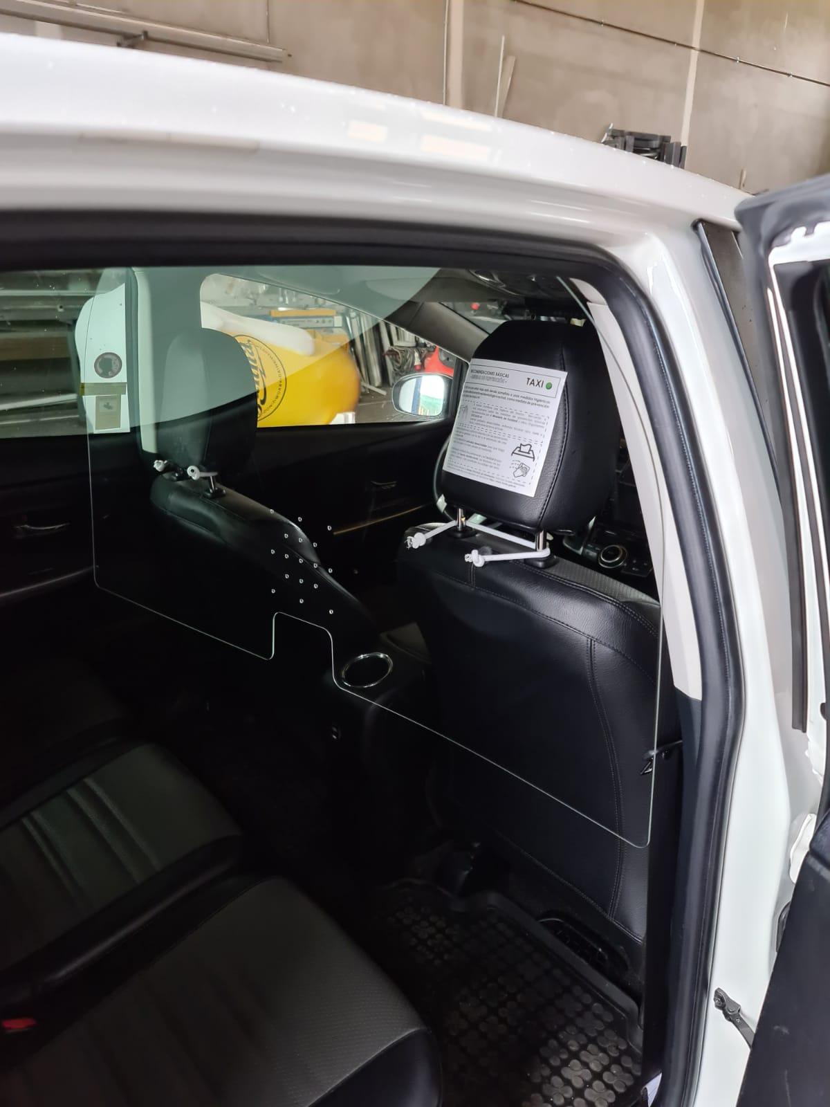 mamaparas protectoras covid19 taxis en Murcia