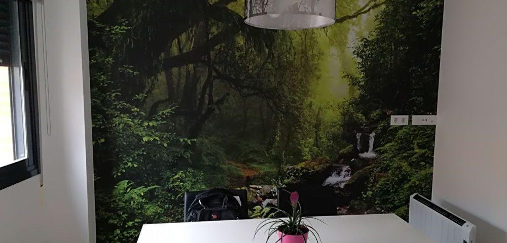 Vinilo de naturaleza para pared salón Rótulos Art Design