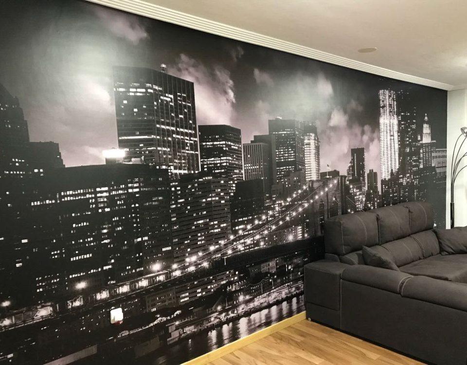Vinilo de pared foto de ciudad - Rótulos Art Design