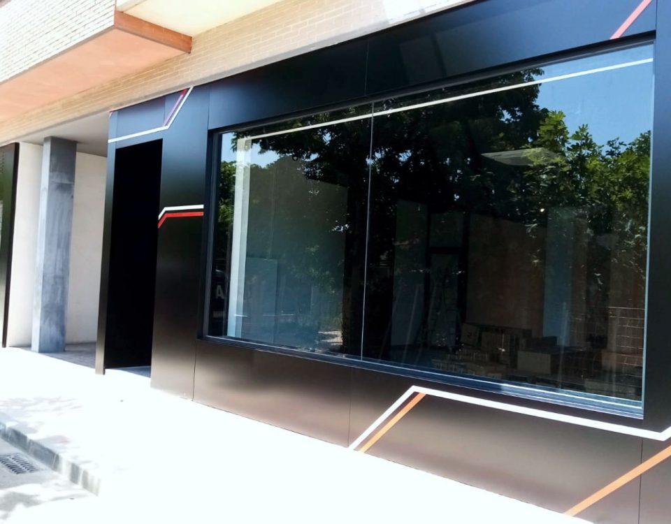 Diseño de fachada en panel composite Murcia rótulos luminosos Art Design