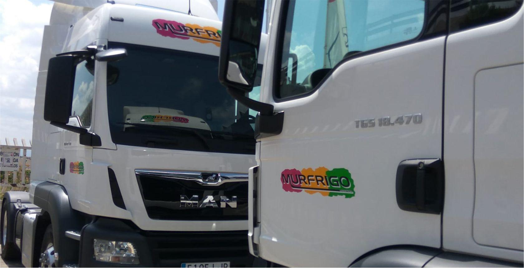 rotulación de camión, visera, frontal y puertas - Rótulos Luminosos Art Design