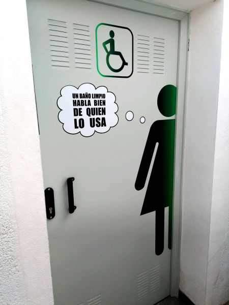 señalética en vinilo para wc baños aseos rótulos luminosos Art Design