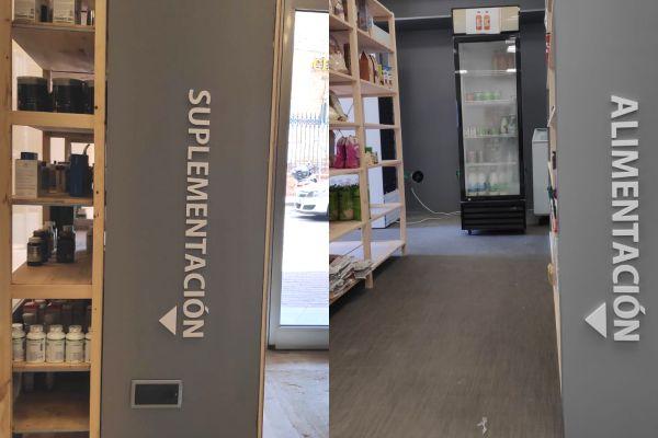 señalética letras de PVC para interior de supermercado