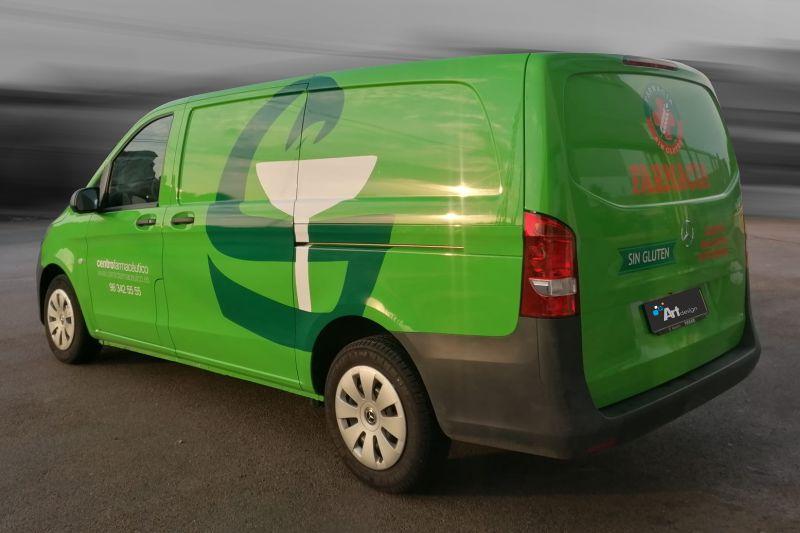 rotular furgoneta con imagen corporativo en vinilo de corte
