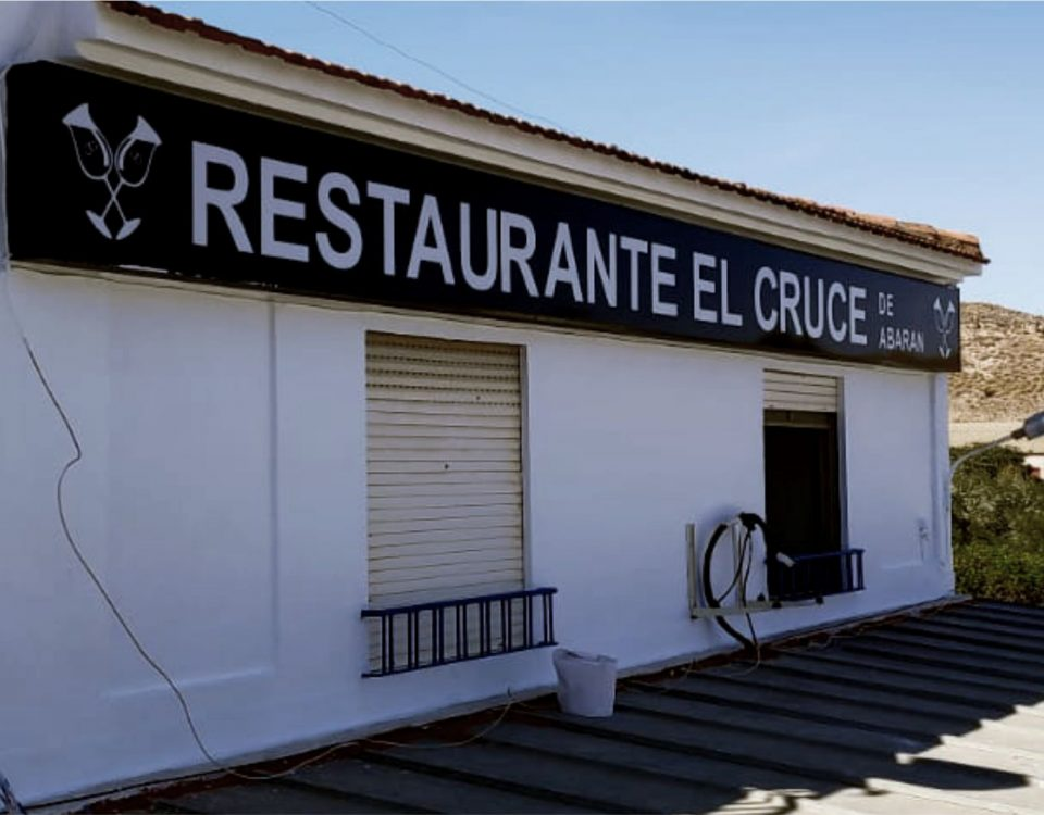 rótulos luminosos para restaurante el Cruce de Abarán - Rótulos Art Design