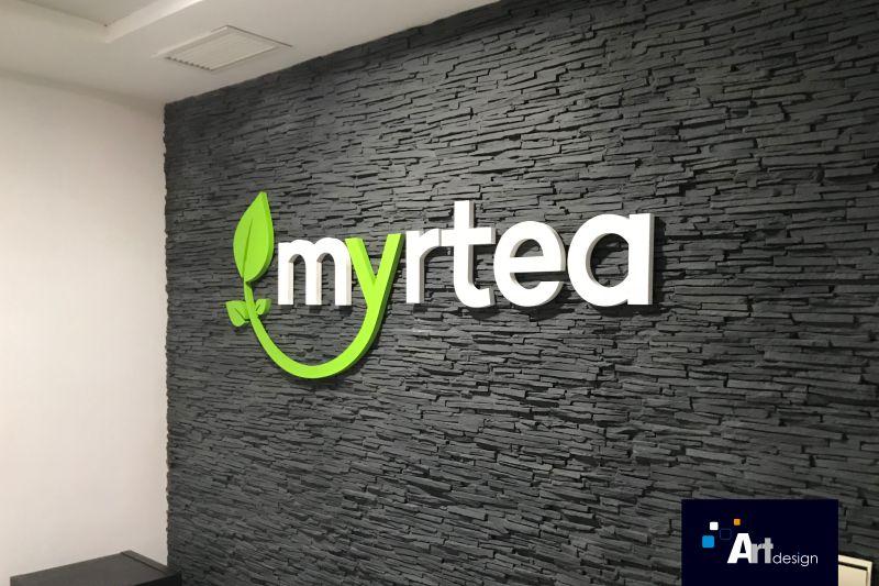 Letras corpóreas en pvc decoración interior Myrtea, Rótulos Luminosos Art Design en Murcia