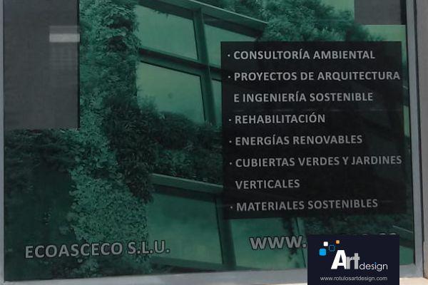 vinilo ácido traslúcido para escaparate rótulos luminosos Art Design Murcia
