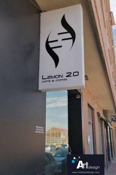rótulo banderola caja de luz rótulos luminosos art design Murcia