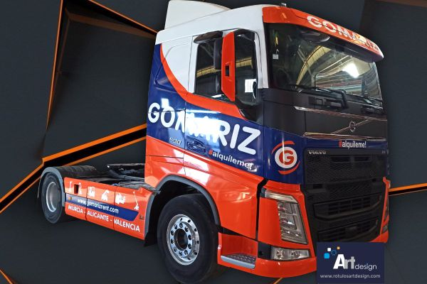 Rotulación integral de camión en vinilo de fundición