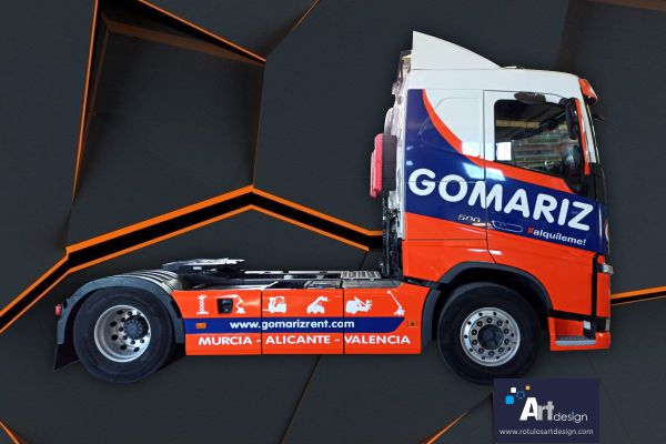 Rotulación integral cabina camión vinilo de fundición